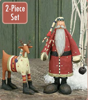 Santa and Reindeer Christmas Decoration