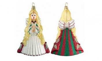 Red Holly Berry Angel Christmas Ornament