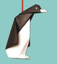 Penguin Origami Christmas Ornament