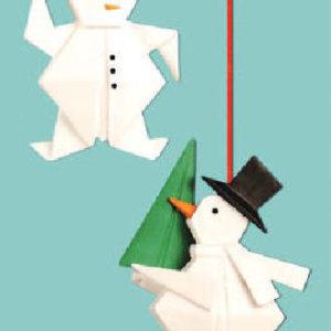 Snowman Origami Ornament
