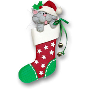 Cat in Stocking Ornament