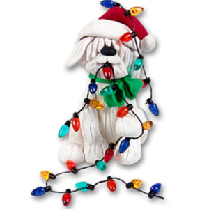 Christmas Dog with Lights Ornament
