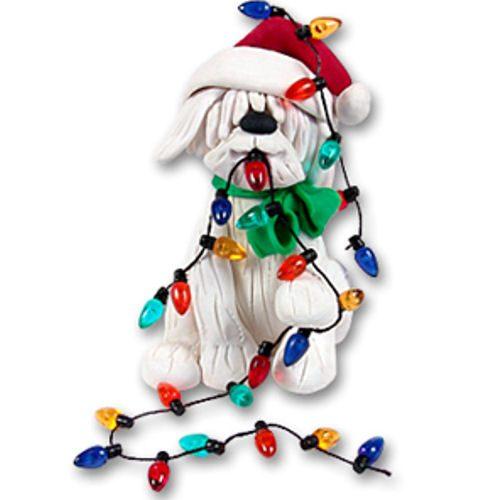 Christmas Dog with Lights Ornament