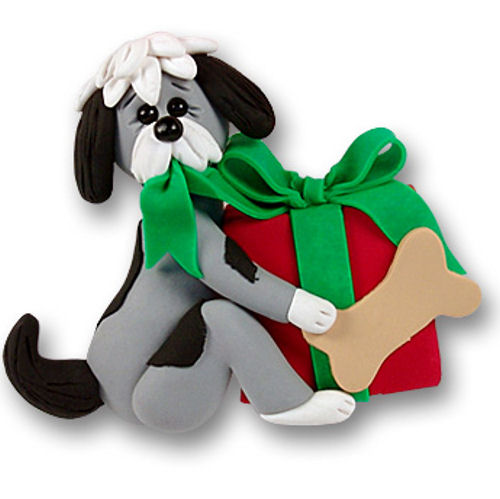 Dog With Gift Ornament