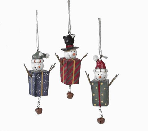 Present Snowmen Christmas Ornaments