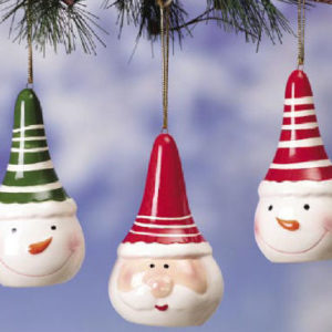 Snowmen & Santa Christmas Ornaments