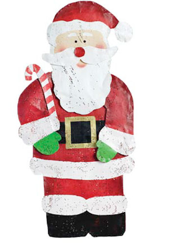 Santa With Candy Cane Door Decoration