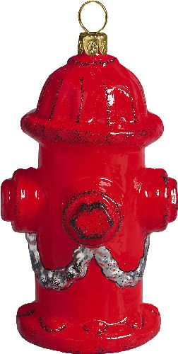 Fire Hydrant Christmas Ornament