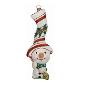 Peppermint Twist Snowman Ornament