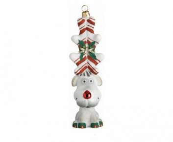 Peppermint Twist Reindeer Ornament