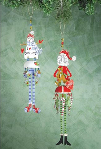Santa and Snowman Bella Ornament