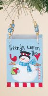 Snowman Metal Bag Ornament