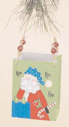 Santa Metal Bag Ornament