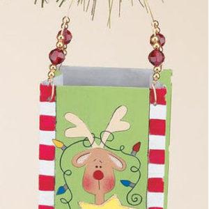 Reindeer Metal Bag Christmas Ornament
