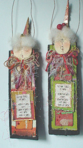 "'Four Stages of Santa"" Ornament 1"