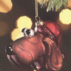 Dog Glass Christmas Ornament