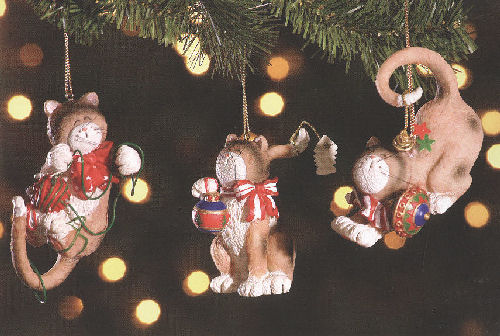 cat christmas ornaments - Cat Christmas Decorations