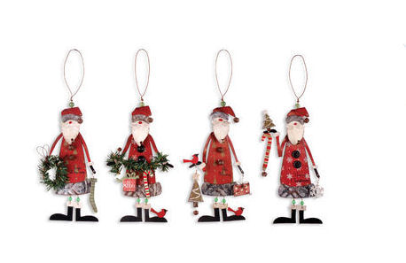 woodsy santa ornament - Metal Christmas Decorations