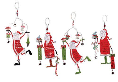 Joyous Santa Ornament