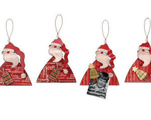 Santa Magnetic Board Ornament