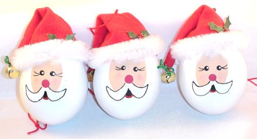 Handmade Santa Egg Christmas Ornament