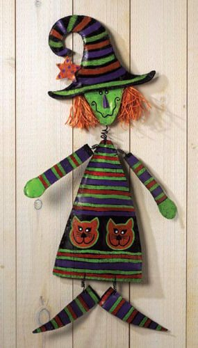 Pumpkin Witch Halloween Door Decoration
