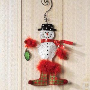 Snowman Aluminum Ornament