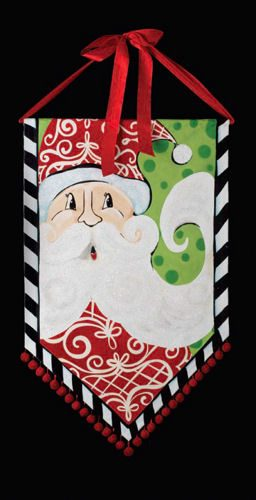 Santa Banner Christmas Decoration