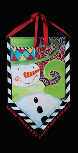 Snowman Banner Christmas Decoration