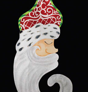 Santa Face Banner Decoration