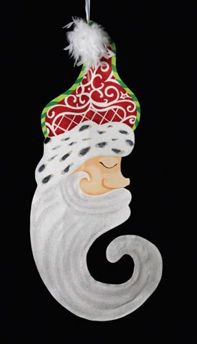 Santa Face Banner Decoration
