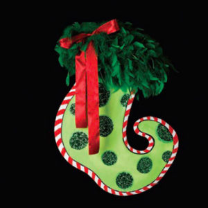 Green Dot Stocking Decoration