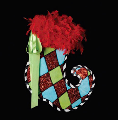 Harlequin Stocking Decoration