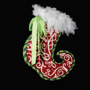 Red Swirl Stocking Decoration