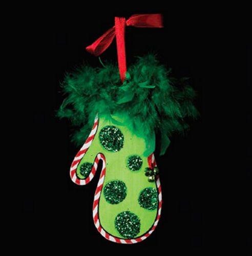 Green Mitten Christmas Ornament