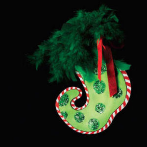 Green Dot Stocking Ornament