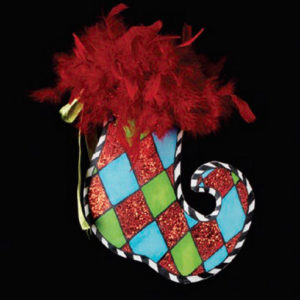Harlequin Stocking Ornament