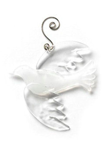 Glass Fusion Dove Ornament