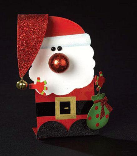 Santa flat ornament happy holidayware