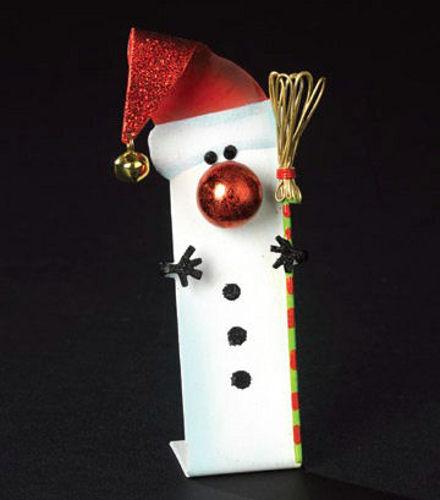 Snowman flat ornament happy holidayware