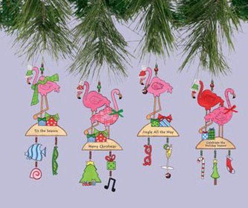 Flamingo Christmas Decorations: Pink Flamingo Christmas Ornaments