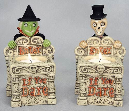 Witch or Mr. Bones Tombstone Tealight