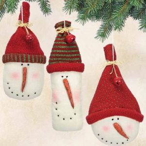 Snowman Head Christmas Ornaments