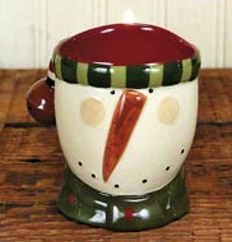 Snowman Head Candle Holder