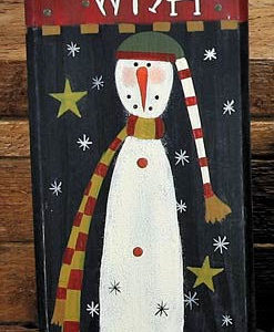 Tall Snowman Wish Candle Holder
