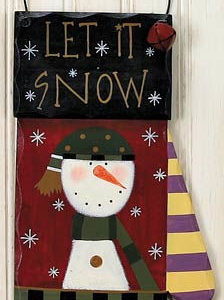 Snowman Mitten Christmas Decoration