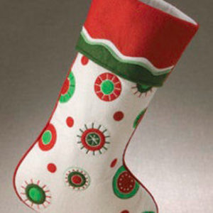 Snowbuttons Christmas Stocking