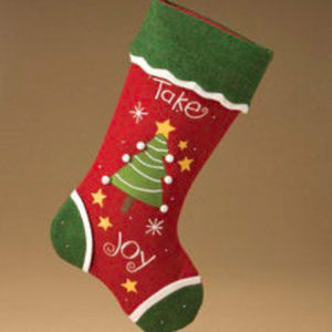 Take Joy Christmas Stocking