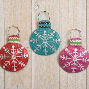 Snowflake Disc Ornaments