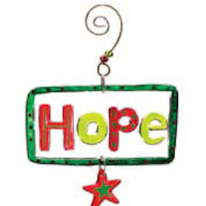 Hope Glass Christmas Ornament